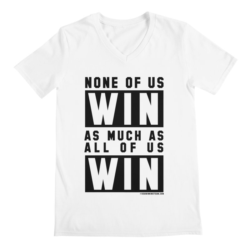 ALL OF US WIN Men's Regular V-Neck by USA WINNING TEAM™