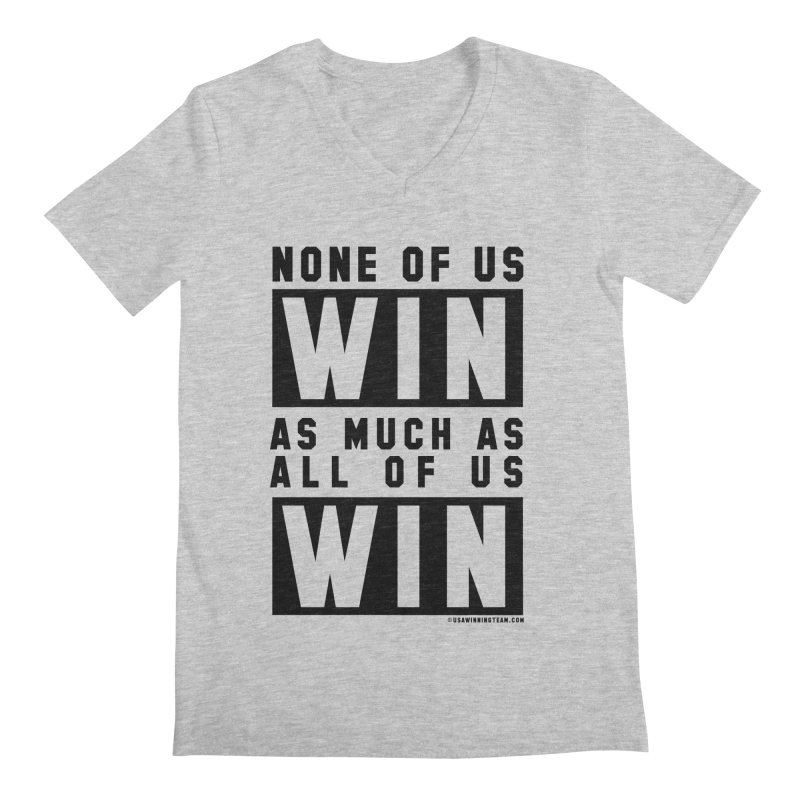 ALL OF US WIN Men's V-Neck by USA WINNING TEAM™