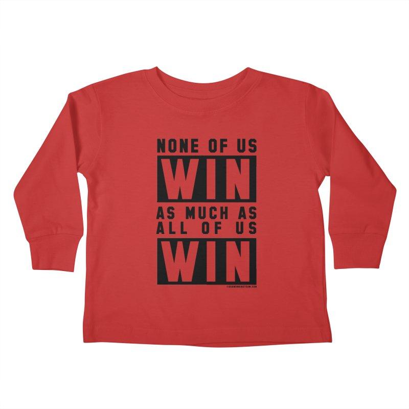 ALL OF US WIN Kids Toddler Longsleeve T-Shirt by USA WINNING TEAM™