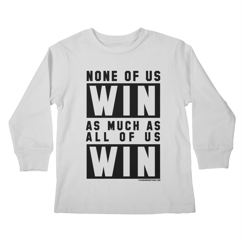 ALL OF US WIN Kids Longsleeve T-Shirt by USA WINNING TEAM™