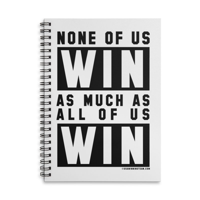 ALL OF US WIN Accessories Lined Spiral Notebook by USA WINNING TEAM™