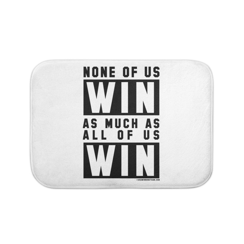 ALL OF US WIN Home Bath Mat by USA WINNING TEAM™