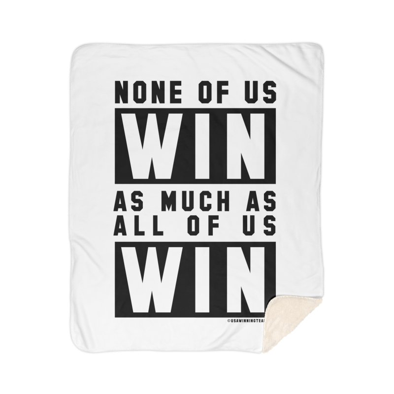 ALL OF US WIN Home Sherpa Blanket Blanket by USA WINNING TEAM™