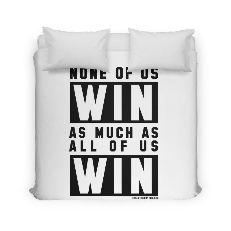 ALL OF US WIN Home Duvet by USA WINNING TEAM™