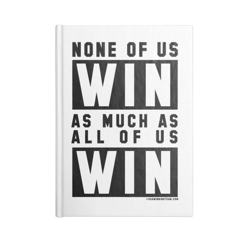 ALL OF US WIN Accessories Blank Journal Notebook by USA WINNING TEAM™