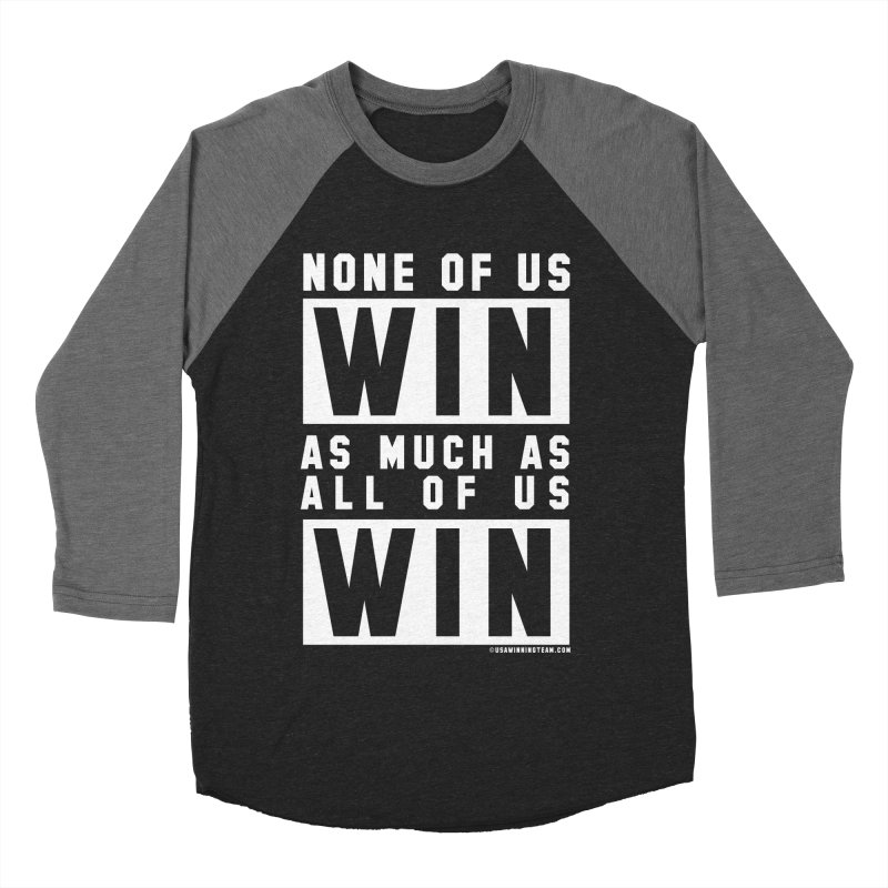 ALL OF US WIN Women's Baseball Triblend T-Shirt by USA WINNING TEAM™