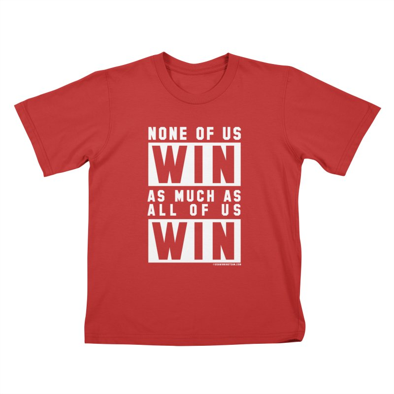 ALL OF US WIN Kids T-shirt by USA WINNING TEAM™