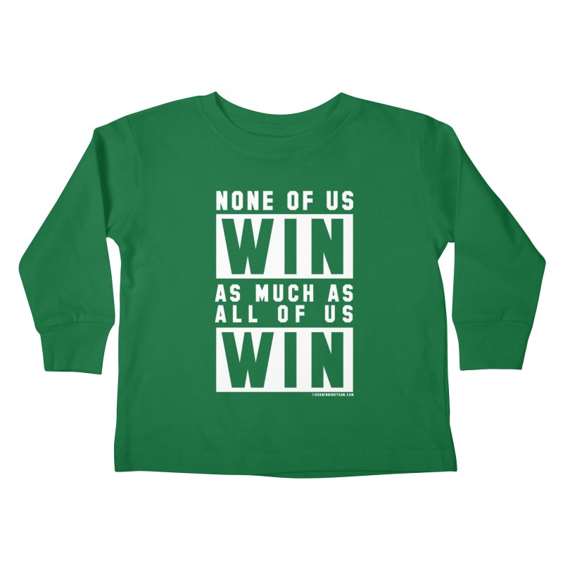 ALL OF US WIN Kids Toddler Longsleeve T-Shirt by USA WINNING TEAM™