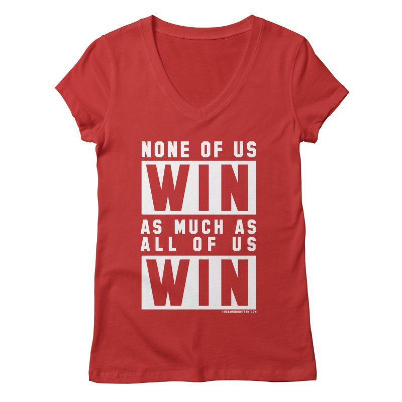 ALL OF US WIN Women's V-Neck by USA WINNING TEAM™