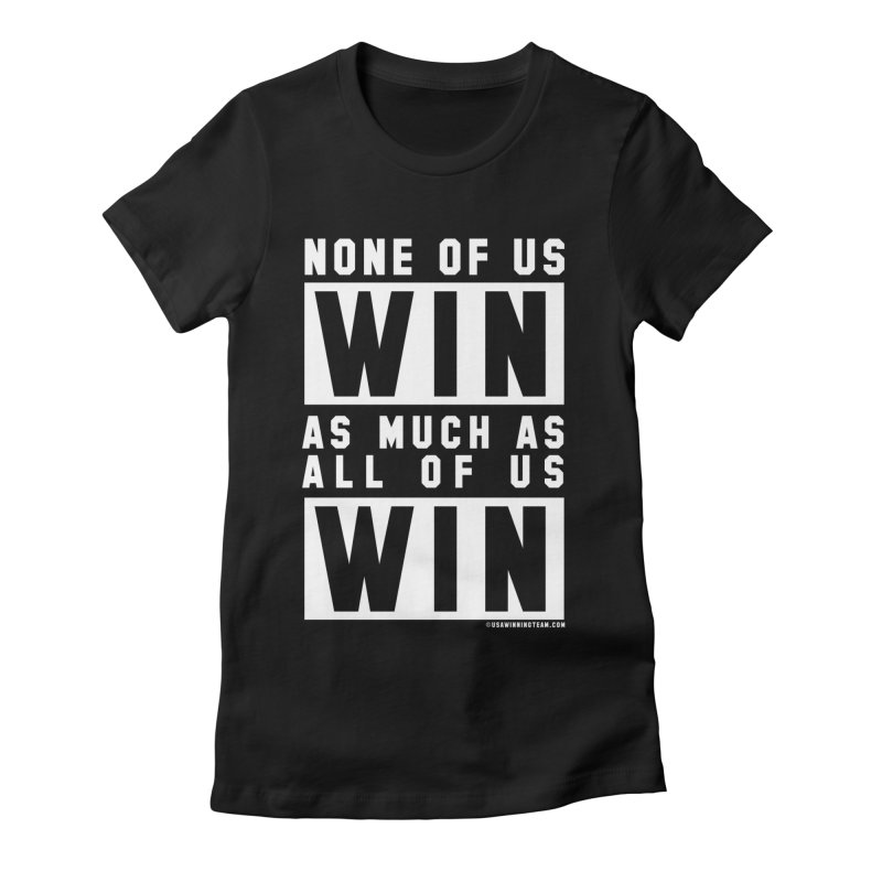 ALL OF US WIN in Women's Fitted T-Shirt Black by USA WINNING TEAM™