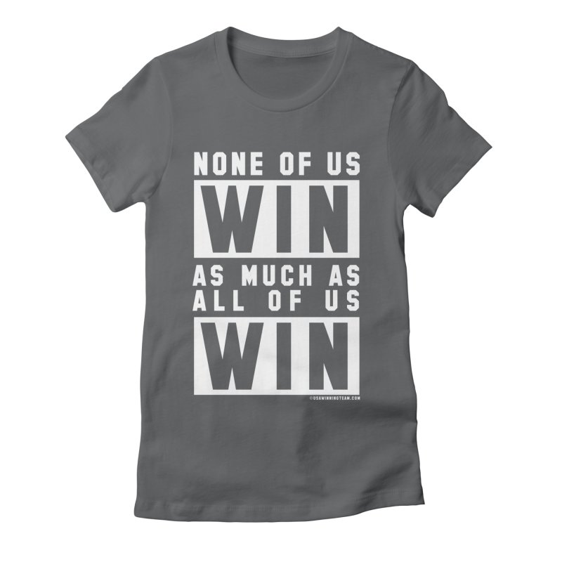 ALL OF US WIN Women's Fitted T-Shirt by USA WINNING TEAM™