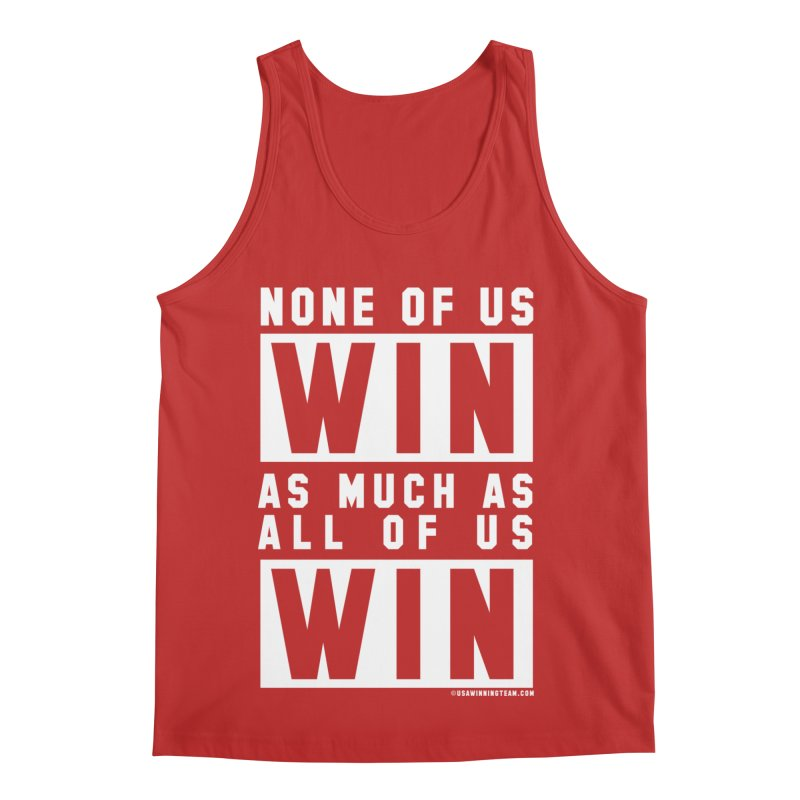 ALL OF US WIN Men's Regular Tank by USA WINNING TEAM™