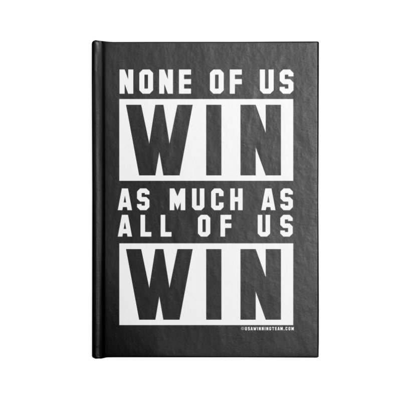 ALL OF US WIN Accessories Notebook by USA WINNING TEAM™