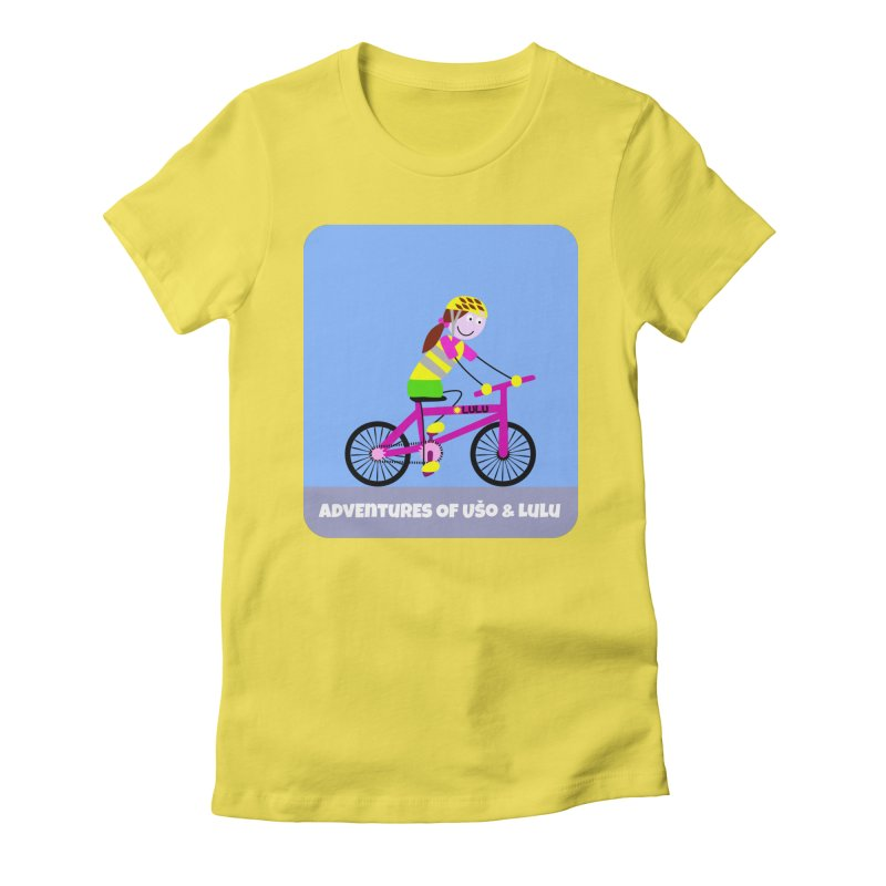 Free Parking in Women's Fitted T-Shirt Vibrant Yellow by usomic's Artist Shop