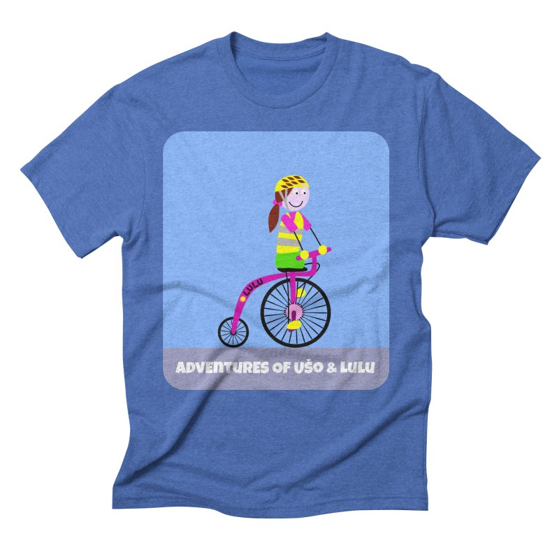 High wheel - Low carbon footprint  in Men's Triblend T-Shirt Blue Triblend by usomic's Artist Shop