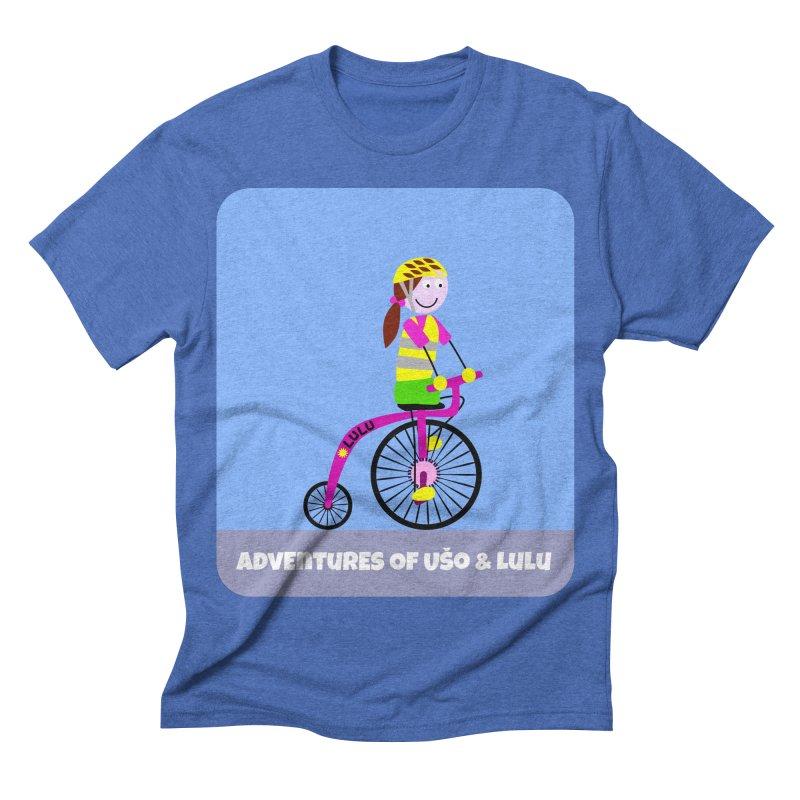 High wheel - Low carbon footprint  in Men's Triblend T-shirt Blue Triblend by usomic's Artist Shop