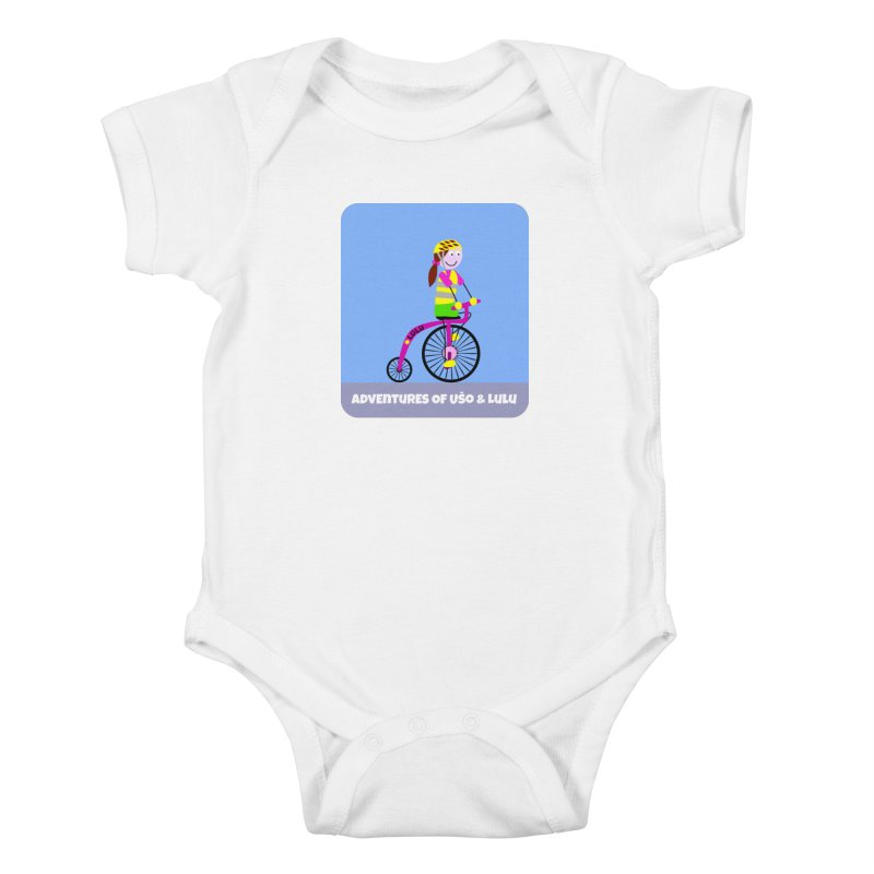 High wheel - Low carbon footprint  Kids Baby Bodysuit by usomic's Artist Shop
