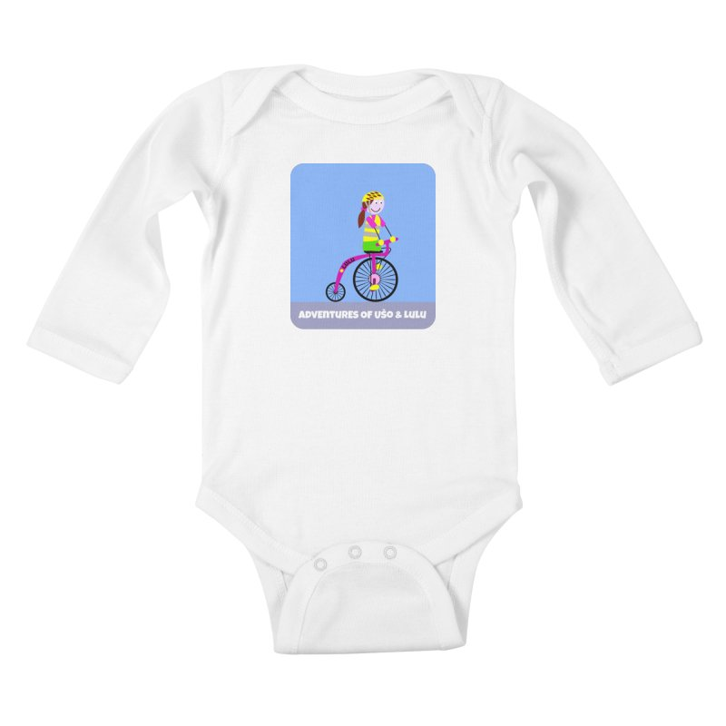 High wheel - Low carbon footprint  Kids Baby Longsleeve Bodysuit by usomic's Artist Shop