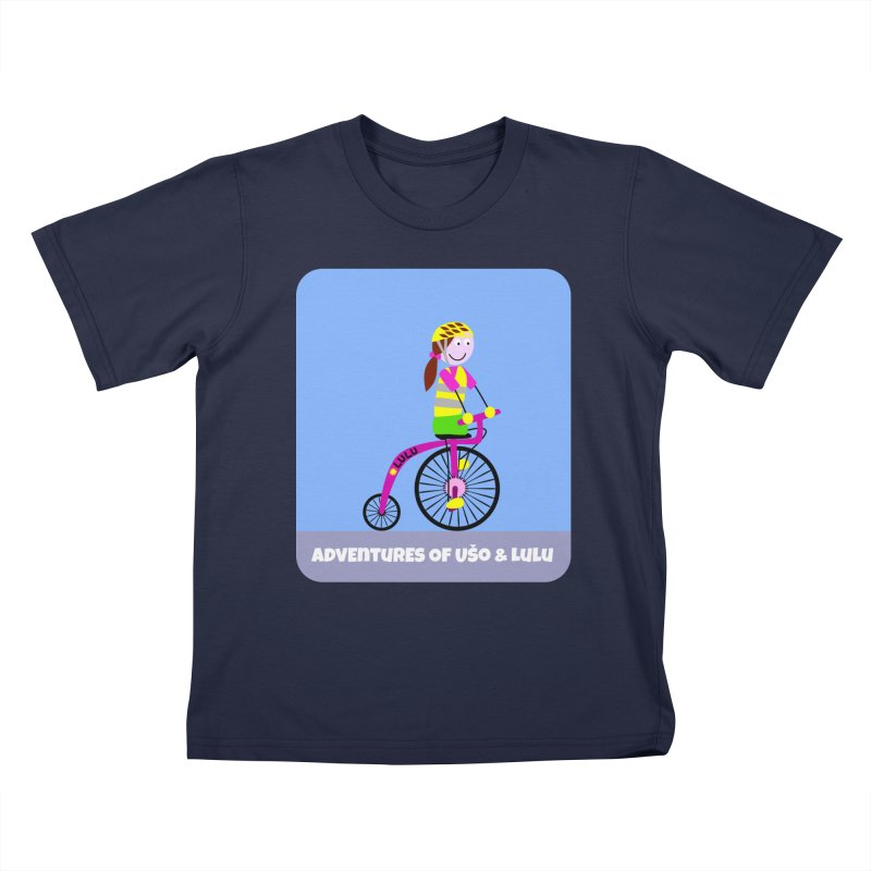 High wheel - Low carbon footprint  Kids T-Shirt by usomic's Artist Shop