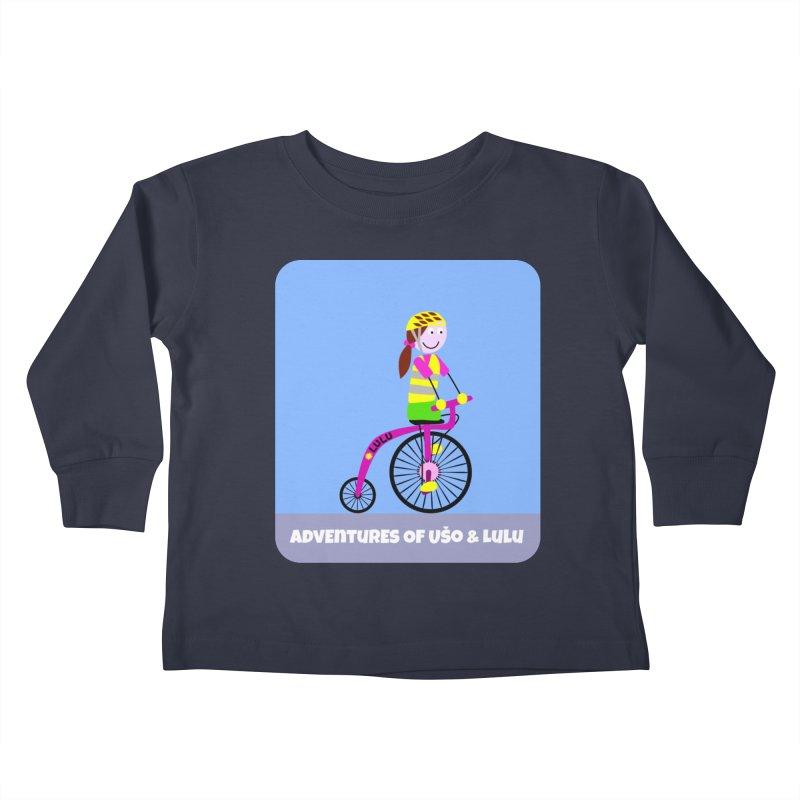 High wheel - Low carbon footprint  Kids Toddler Longsleeve T-Shirt by usomic's Artist Shop