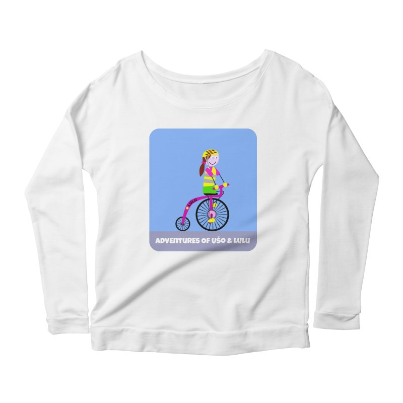 High wheel - Low carbon footprint  Women's Longsleeve Scoopneck  by usomic's Artist Shop