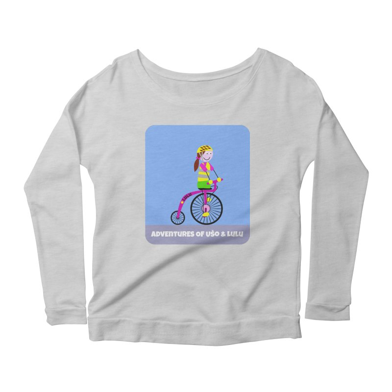 High wheel - Low carbon footprint  Women's Scoop Neck Longsleeve T-Shirt by usomic's Artist Shop