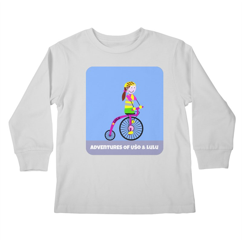High wheel - Low carbon footprint  Kids Longsleeve T-Shirt by usomic's Artist Shop