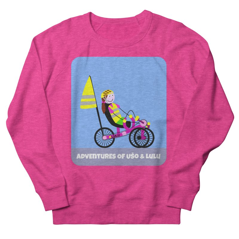 Threedom to Ride in Women's French Terry Sweatshirt Heather Heliconia by usomic's Artist Shop
