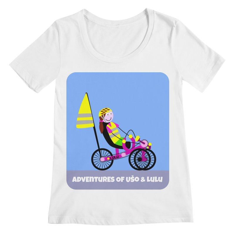 Threedom to Ride Women's Regular Scoop Neck by usomic's Artist Shop