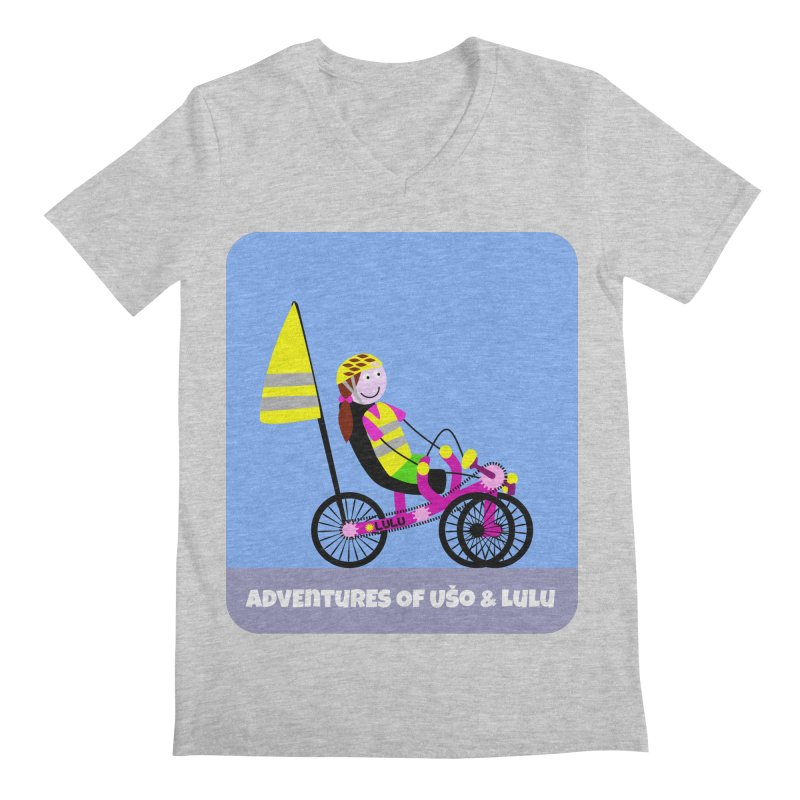 Threedom to Ride Men's Regular V-Neck by usomic's Artist Shop