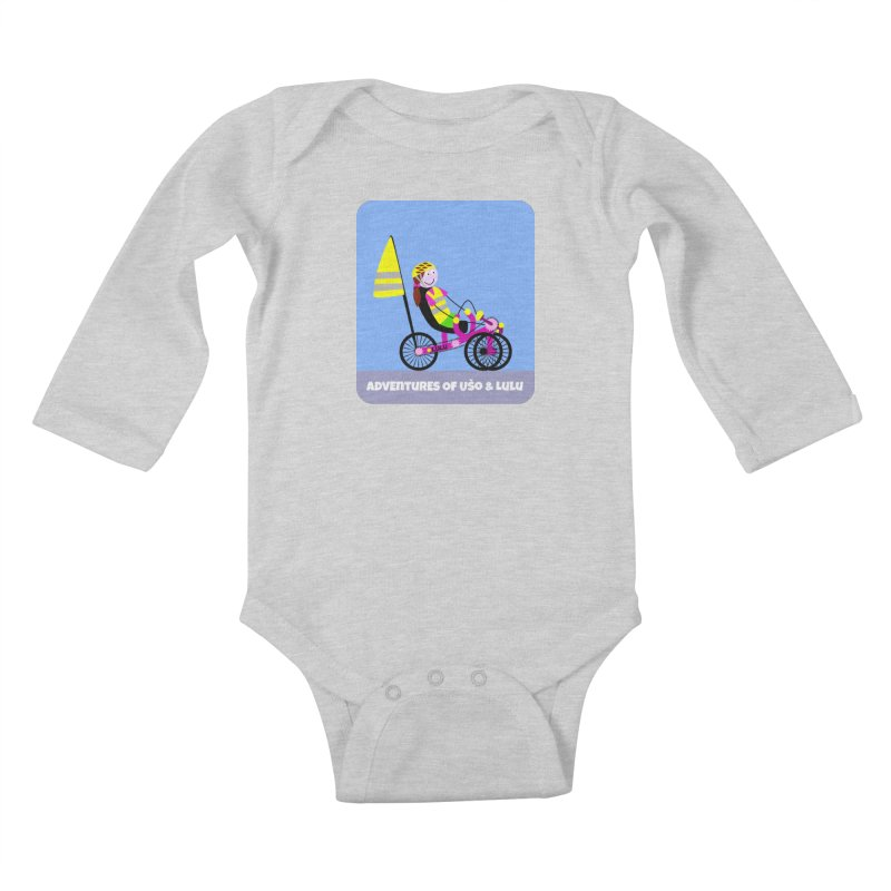 Threedom to Ride Kids Baby Longsleeve Bodysuit by usomic's Artist Shop