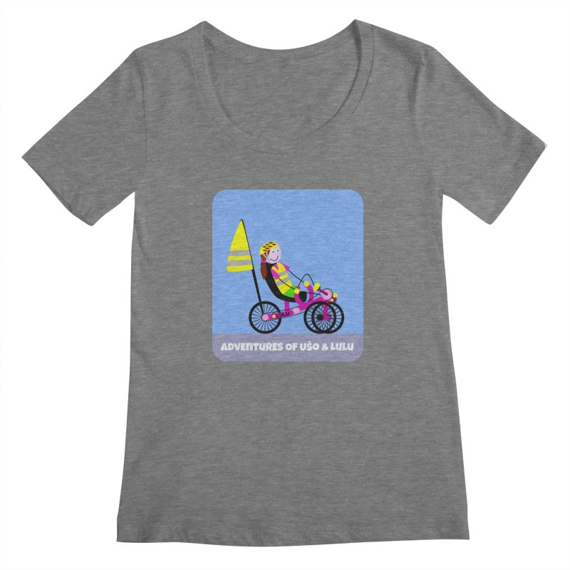 Threedom to Ride Women's Scoopneck by usomic's Artist Shop