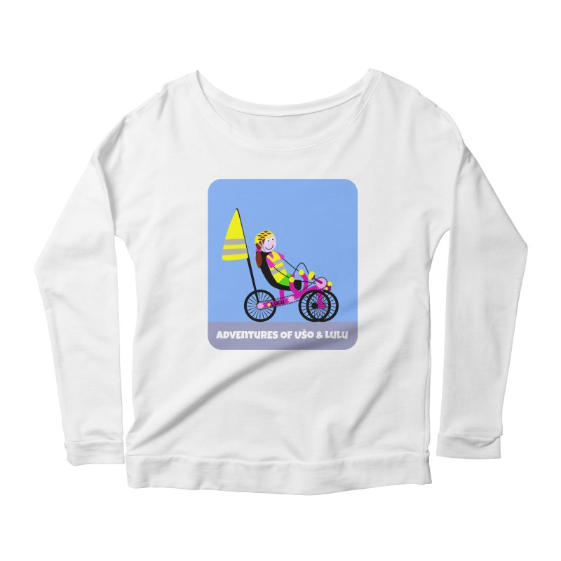 Threedom to Ride Women's Longsleeve Scoopneck  by usomic's Artist Shop
