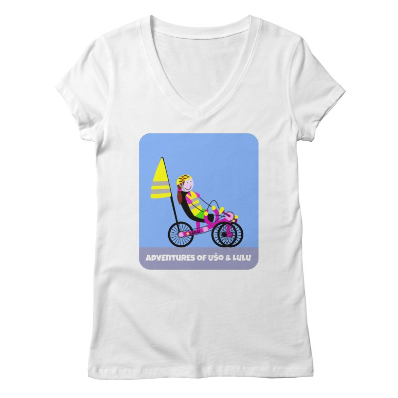 Threedom to Ride Women's Regular V-Neck by usomic's Artist Shop
