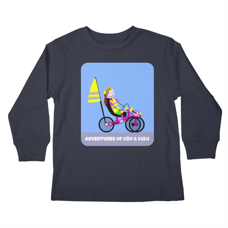 Threedom to Ride Kids Longsleeve T-Shirt by usomic's Artist Shop