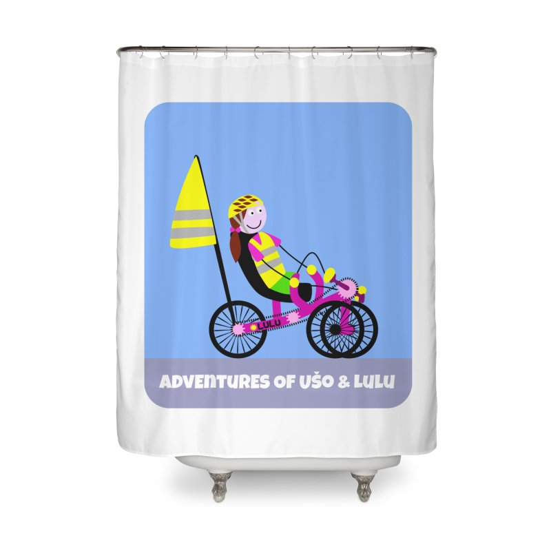 Threedom to Ride Home Shower Curtain by usomic's Artist Shop