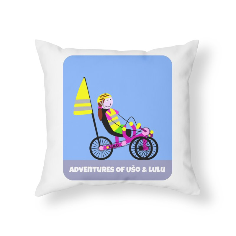 Threedom to Ride Home Throw Pillow by usomic's Artist Shop
