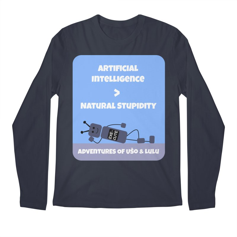 Rise of AI in Men's Regular Longsleeve T-Shirt Midnight by usomic's Artist Shop