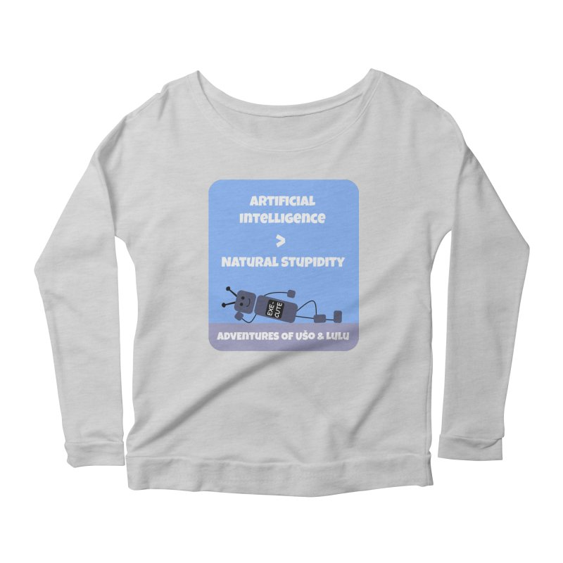 Rise of AI Women's Scoop Neck Longsleeve T-Shirt by usomic's Artist Shop