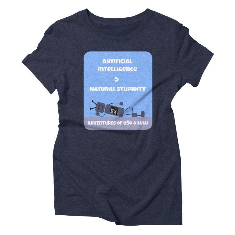 Rise of AI Women's Triblend T-Shirt by usomic's Artist Shop