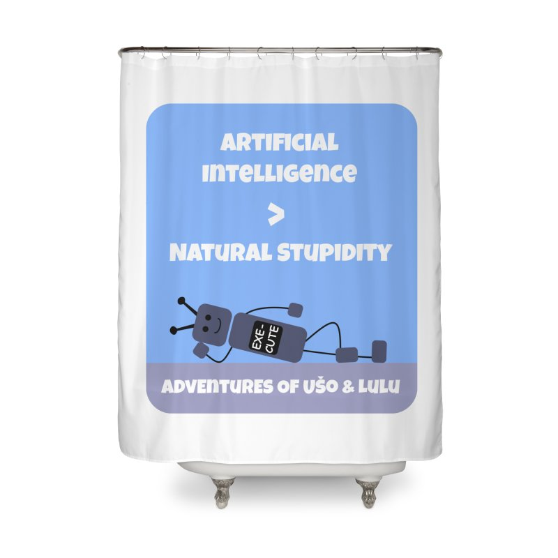 Rise of AI Home Shower Curtain by usomic's Artist Shop
