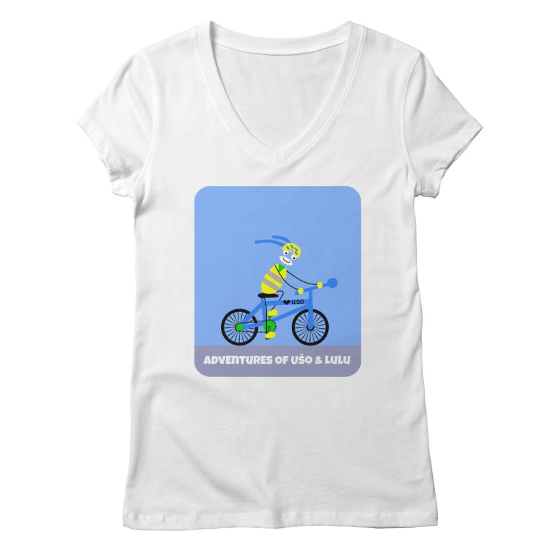 Environmentally Friendly Women's Regular V-Neck by usomic's Artist Shop