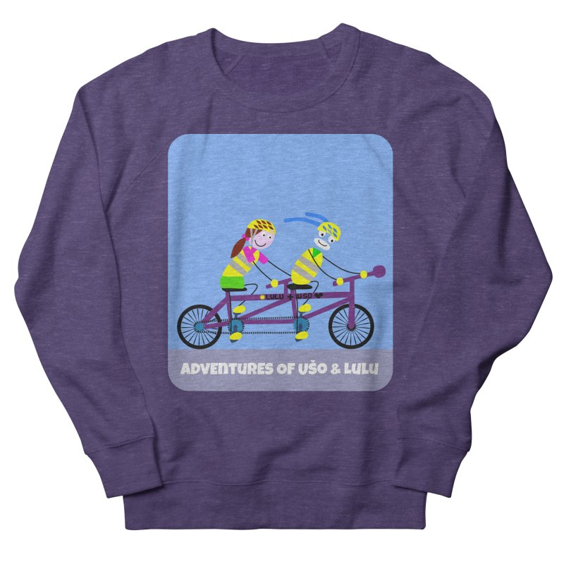 Double Emission Free in Men's French Terry Sweatshirt Heather Purple by usomic's Artist Shop