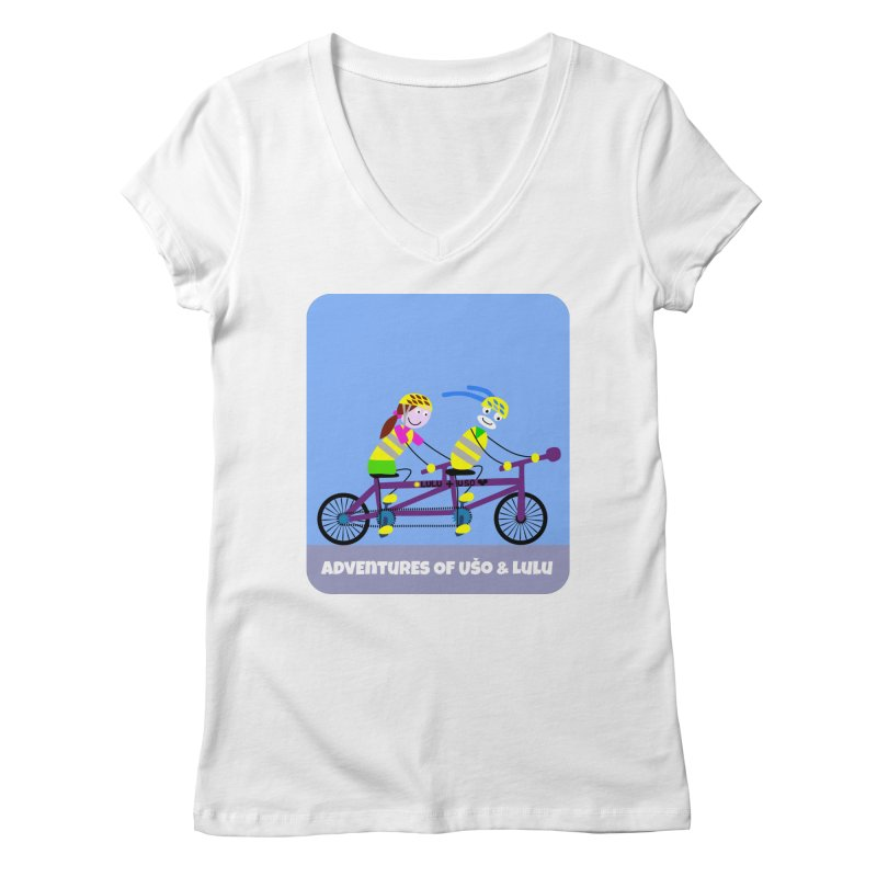 Double Emission Free Women's Regular V-Neck by usomic's Artist Shop