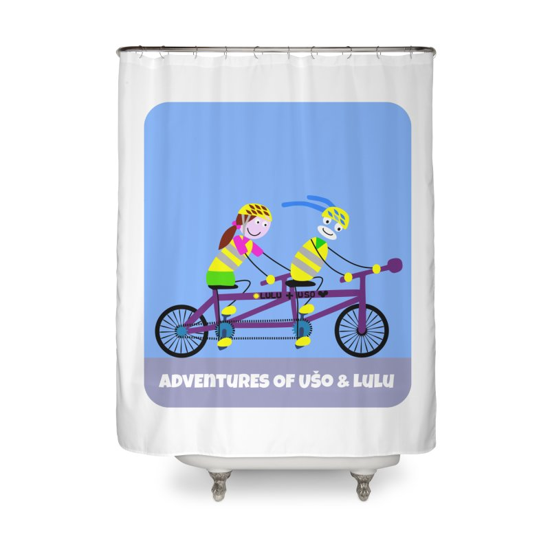 Double Emission Free Home Shower Curtain by usomic's Artist Shop