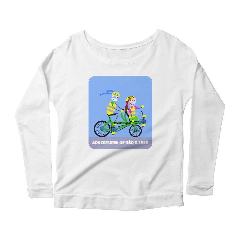 Free Family Workout Women's Scoop Neck Longsleeve T-Shirt by usomic's Artist Shop