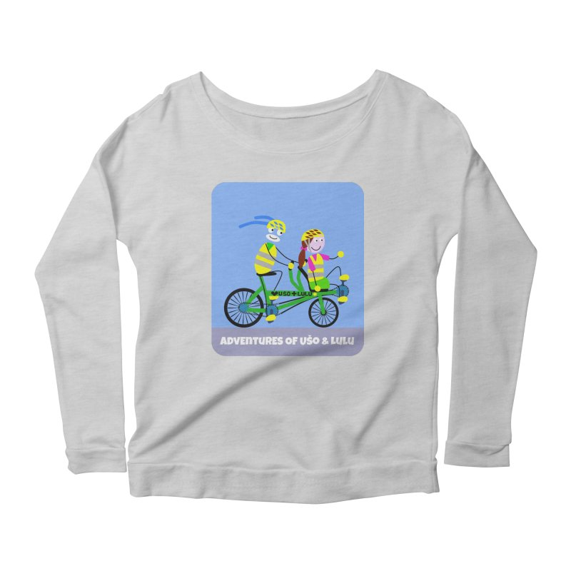 Free Family Workout Women's Scoop Neck Longsleeve T-Shirt by usomic's Artist Shop
