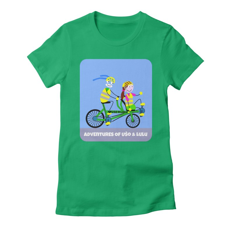 Free Family Workout in Women's Fitted T-Shirt Kelly by usomic's Artist Shop