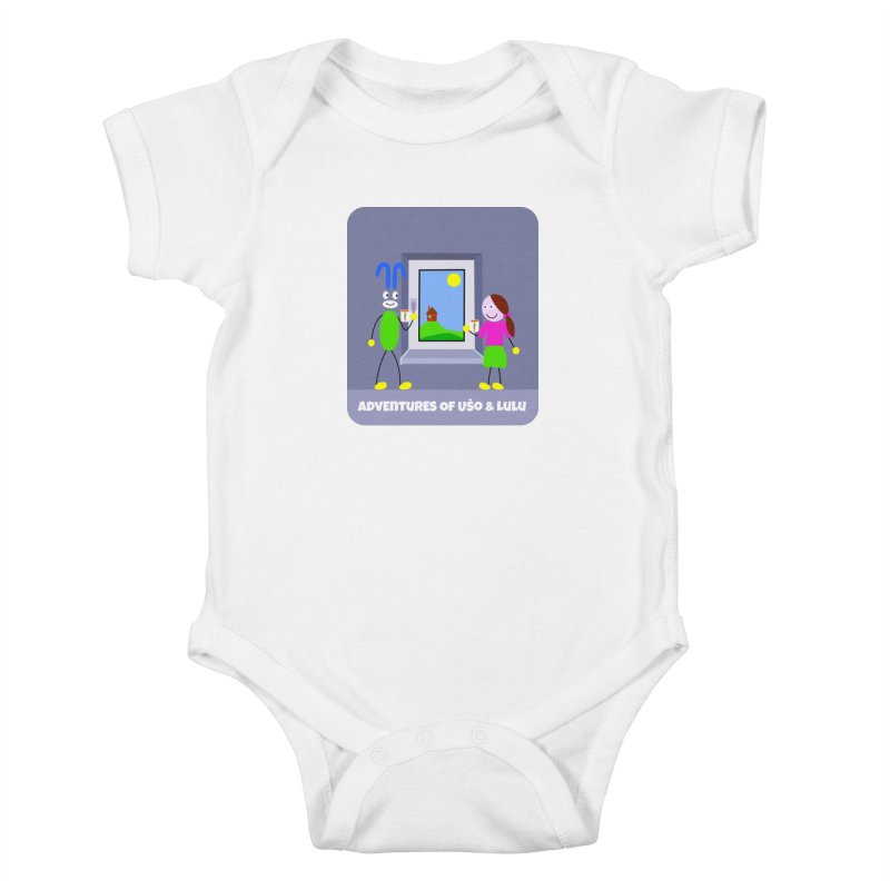 Bright Future Kids Baby Bodysuit by usomic's Artist Shop