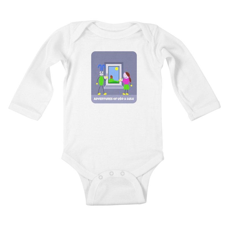 Bright Future Kids Baby Longsleeve Bodysuit by usomic's Artist Shop